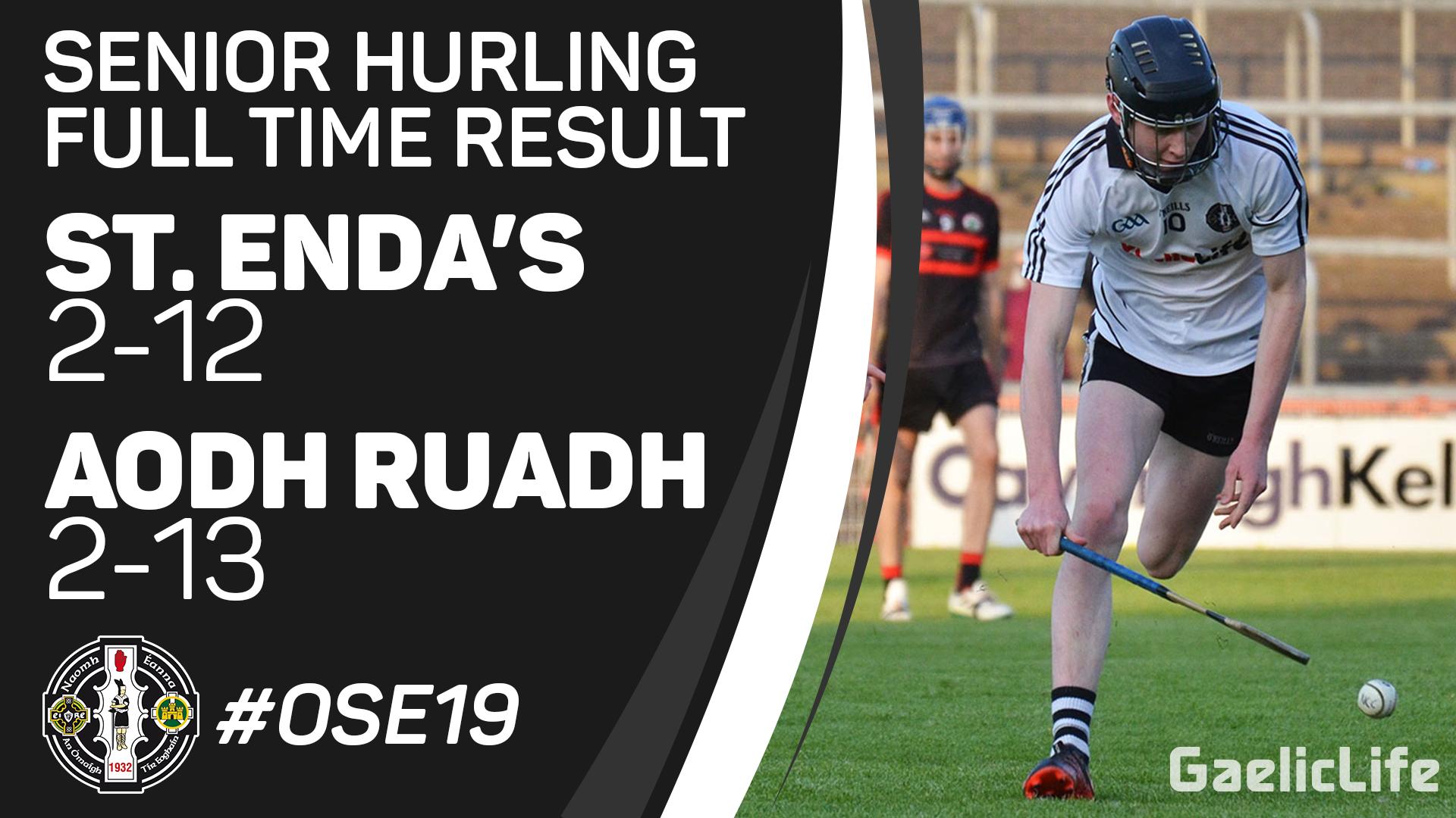 Match Report – Senior Hurling v Aodh Ruadh