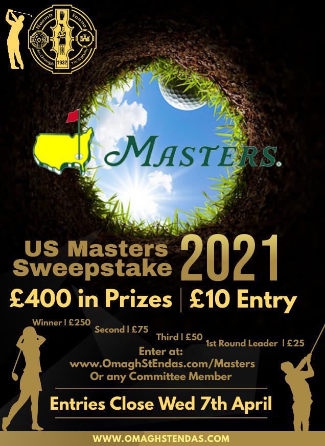 US Masters Sweepstake